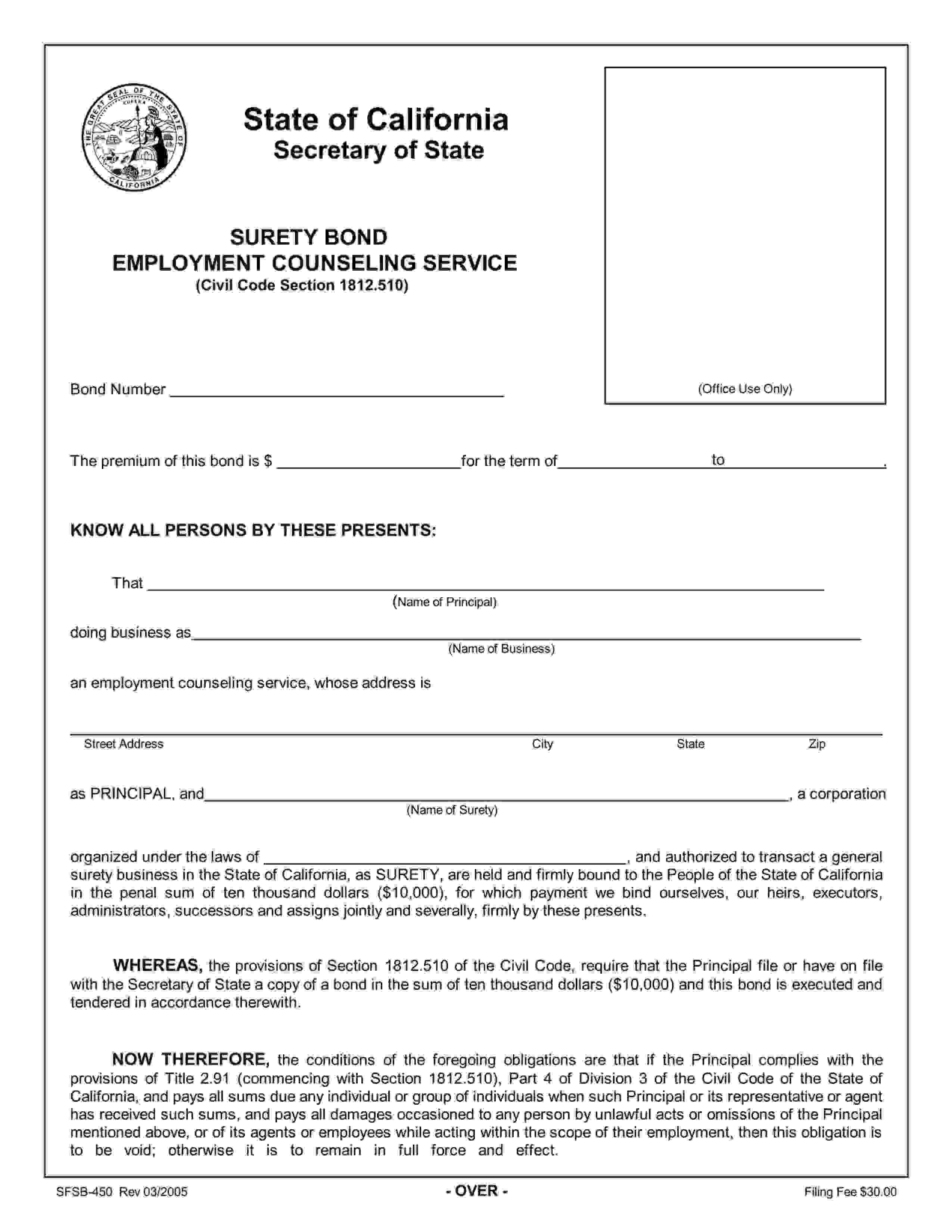 California Secretary of State Employment Counseling Service sample image