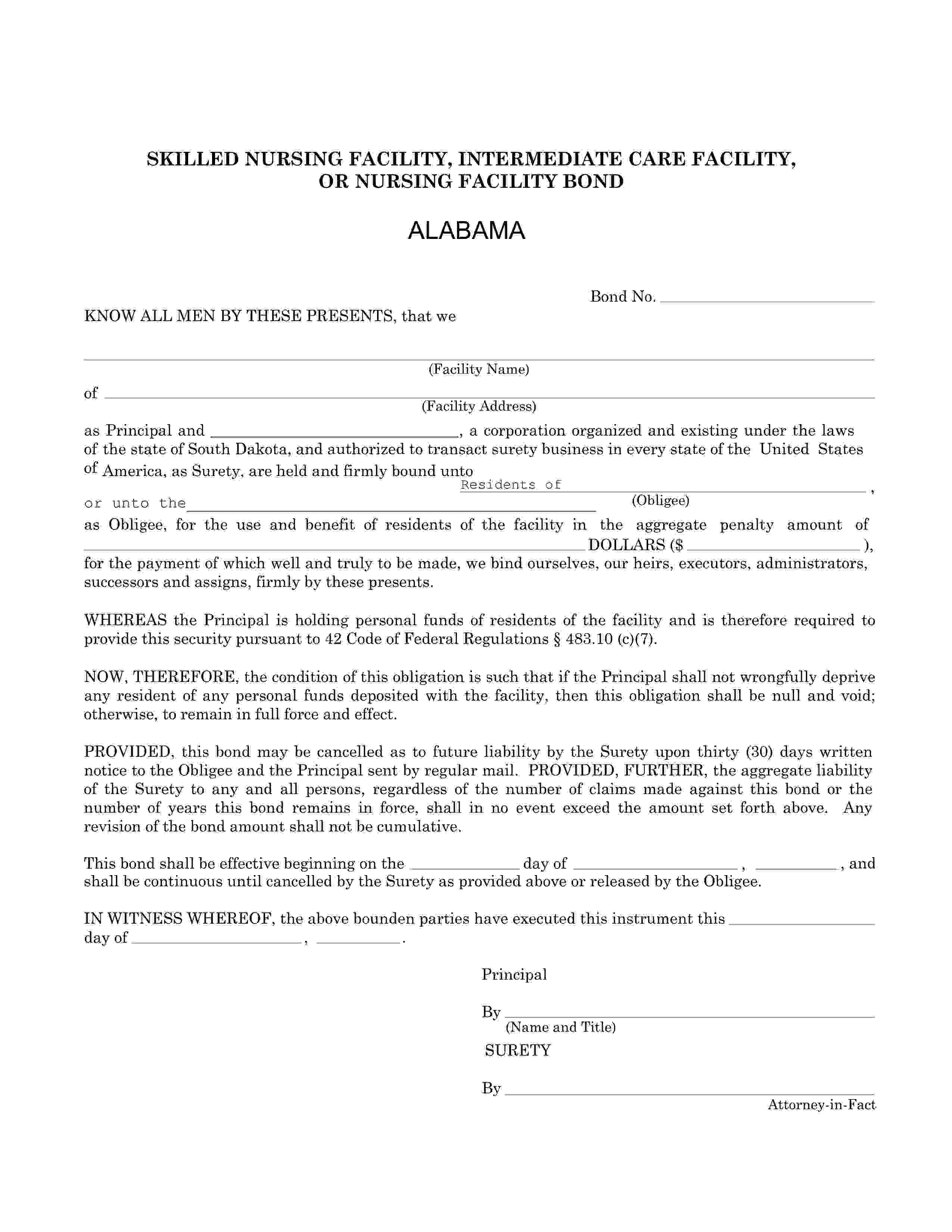 Alabama Dept of Public Health Nursing Facility Resident Trust Fund sample image