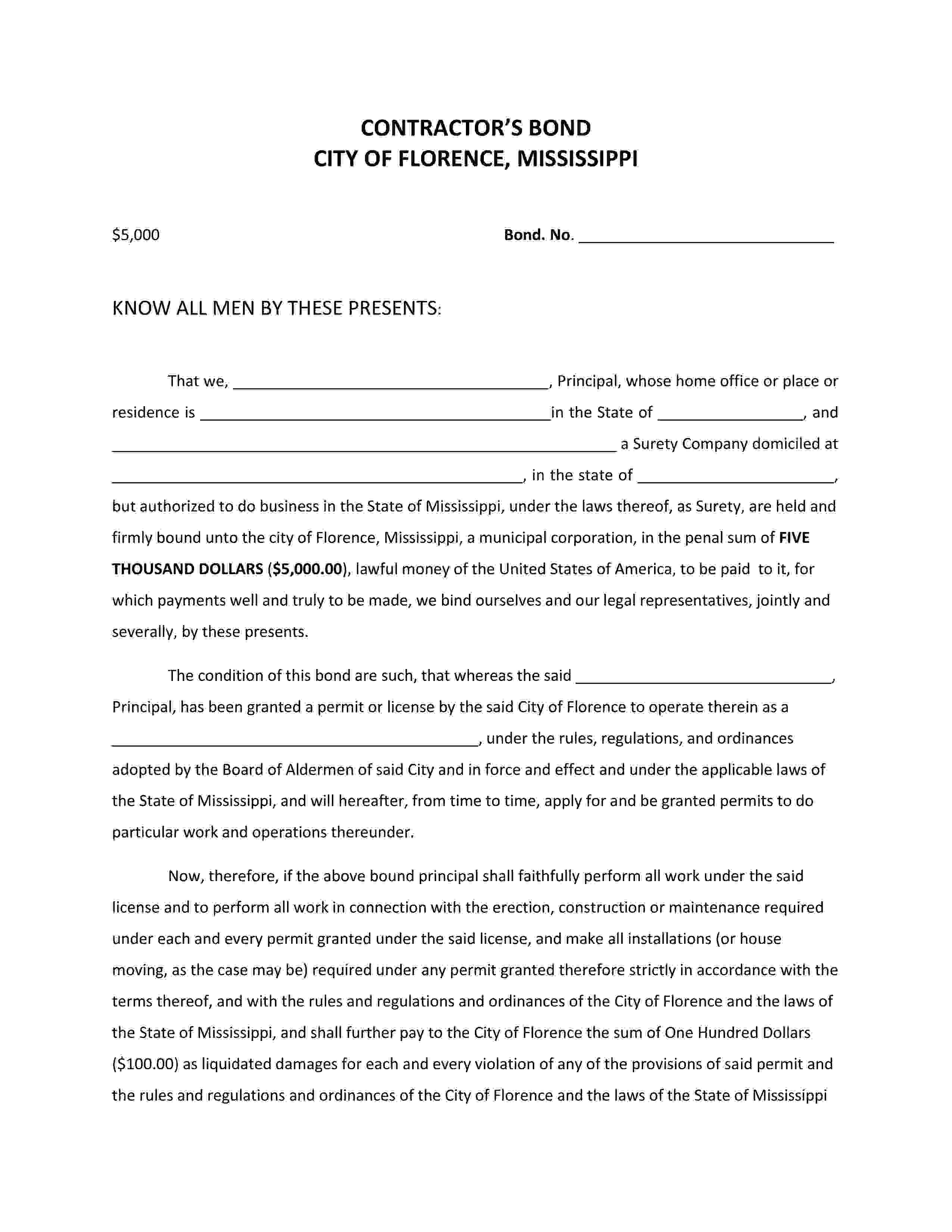 City of Florence Florence - City License/Permit sample image