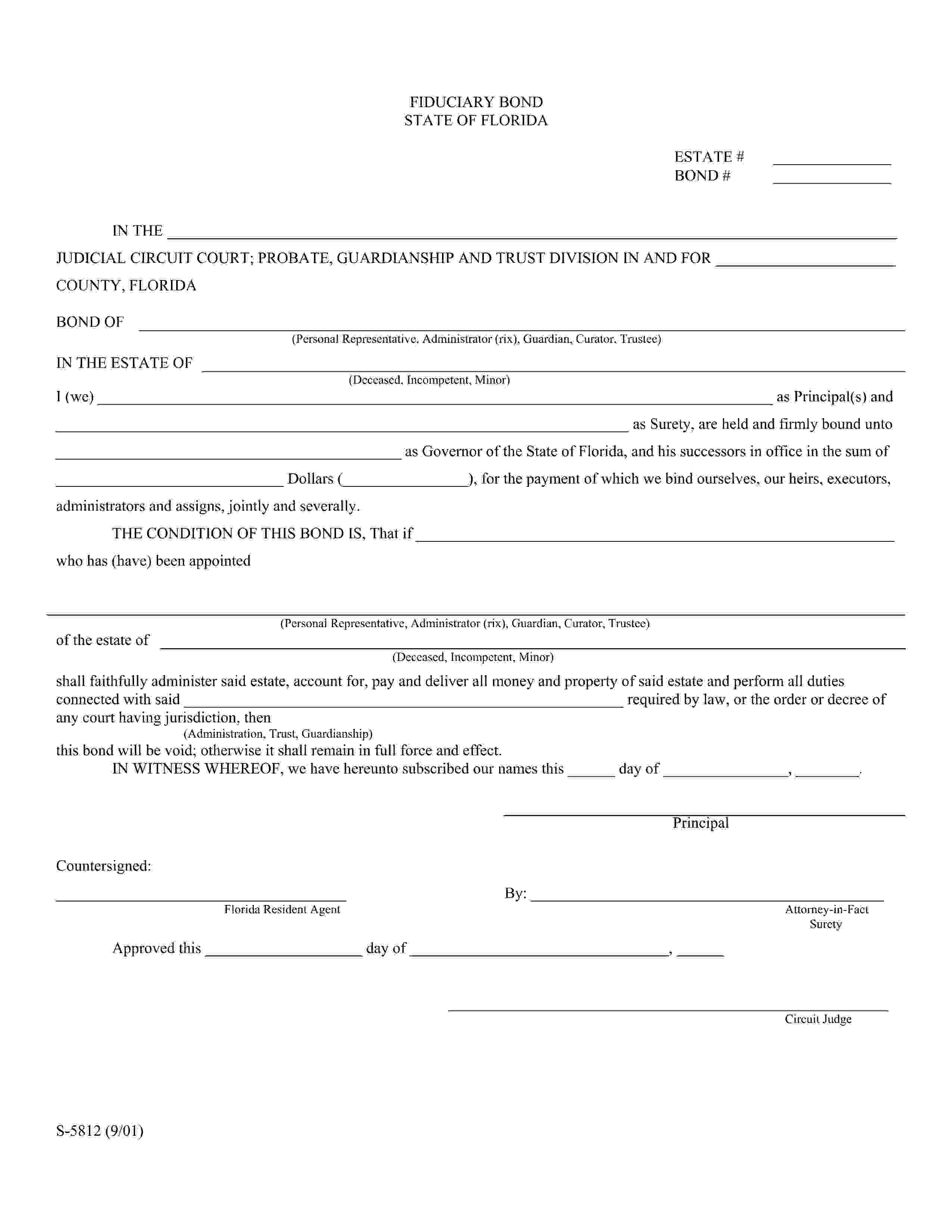 Trustee (Under Will or Deed of Trust) sample image