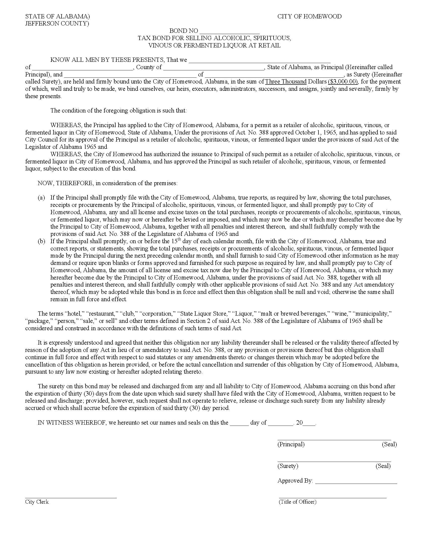 City of Homewood Homewood - City Retail Liquor Tax sample image