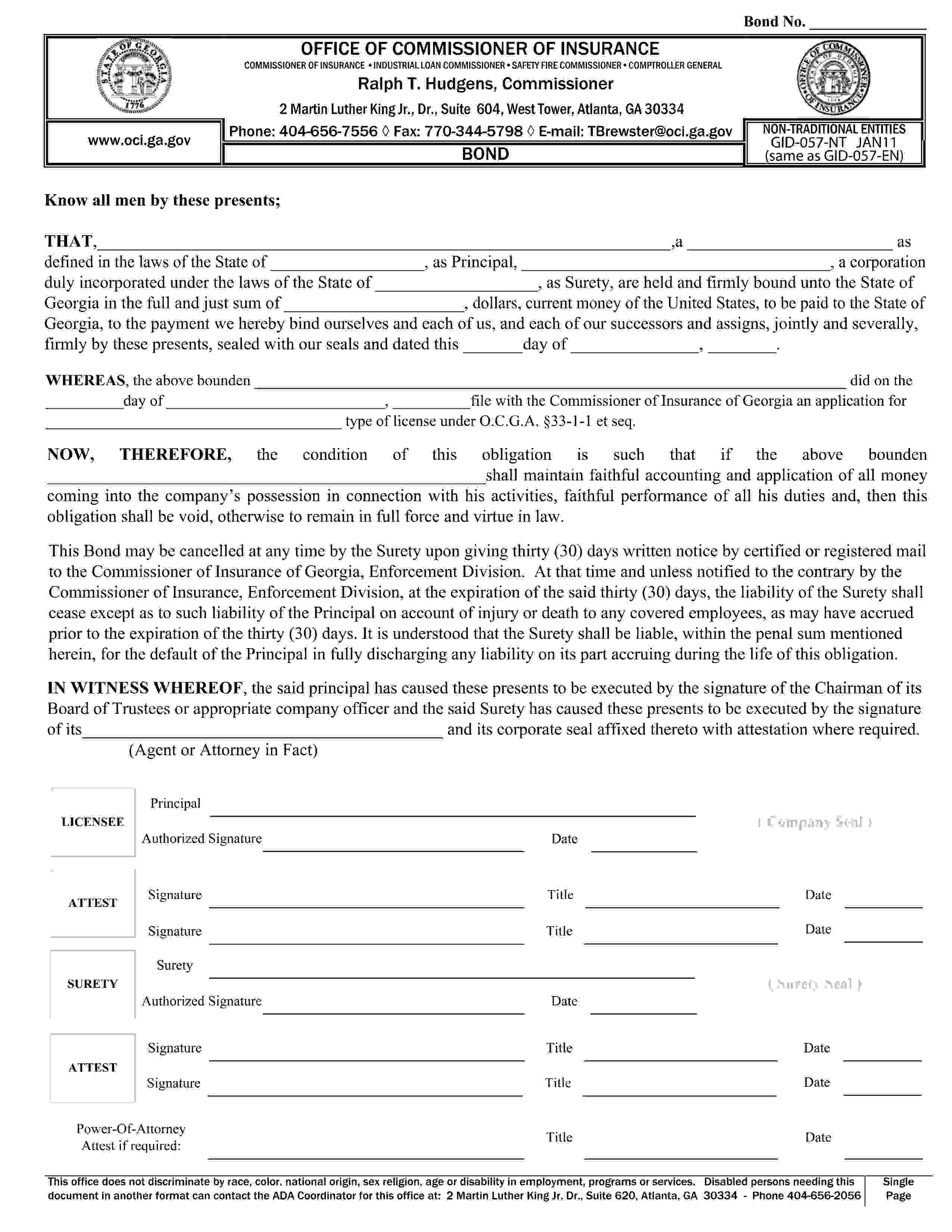 Georgia Commissioner of Insurance Pharmacy Benefits Manager sample image