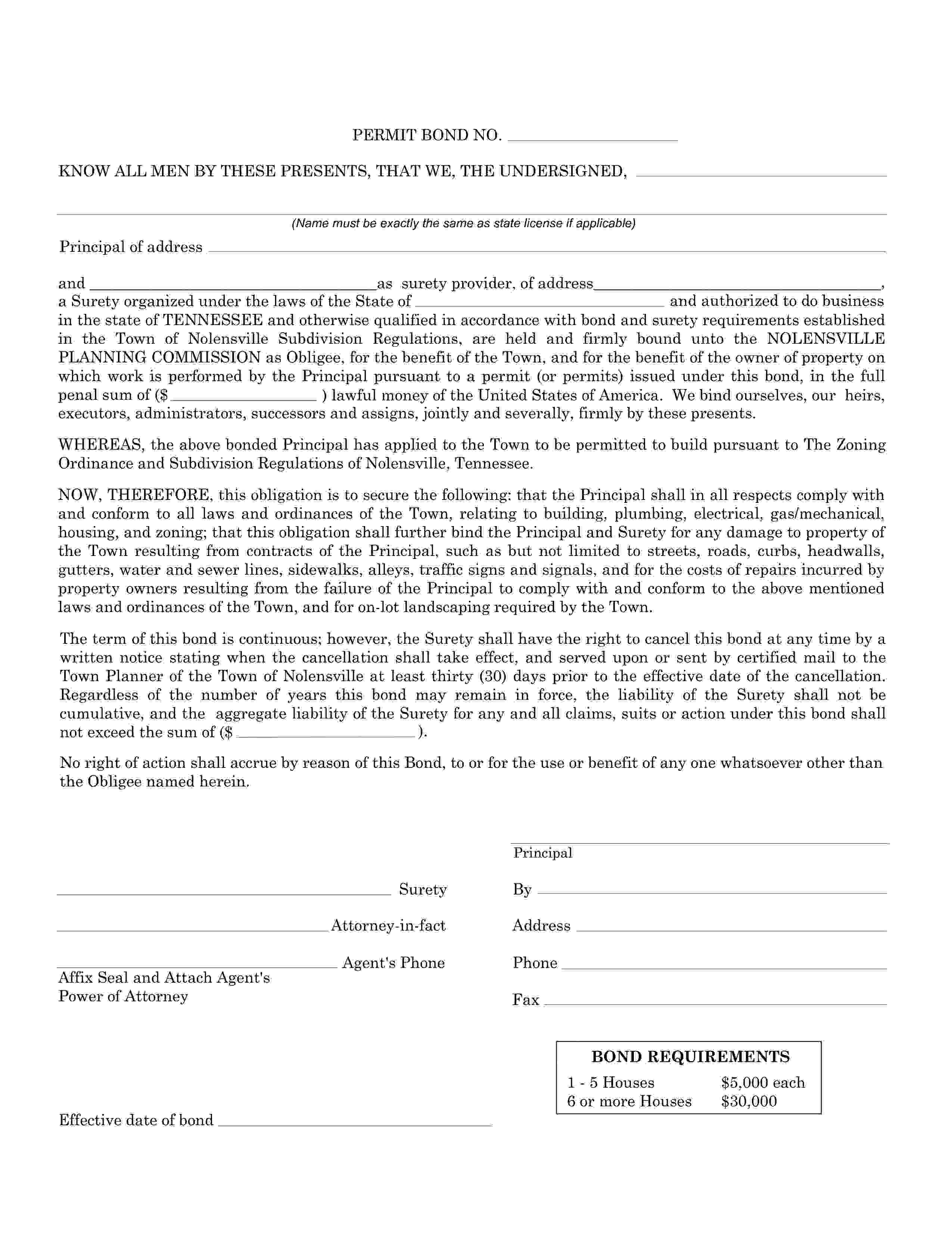 Nolensville Planning Commission Nolensville - Township Permit sample image