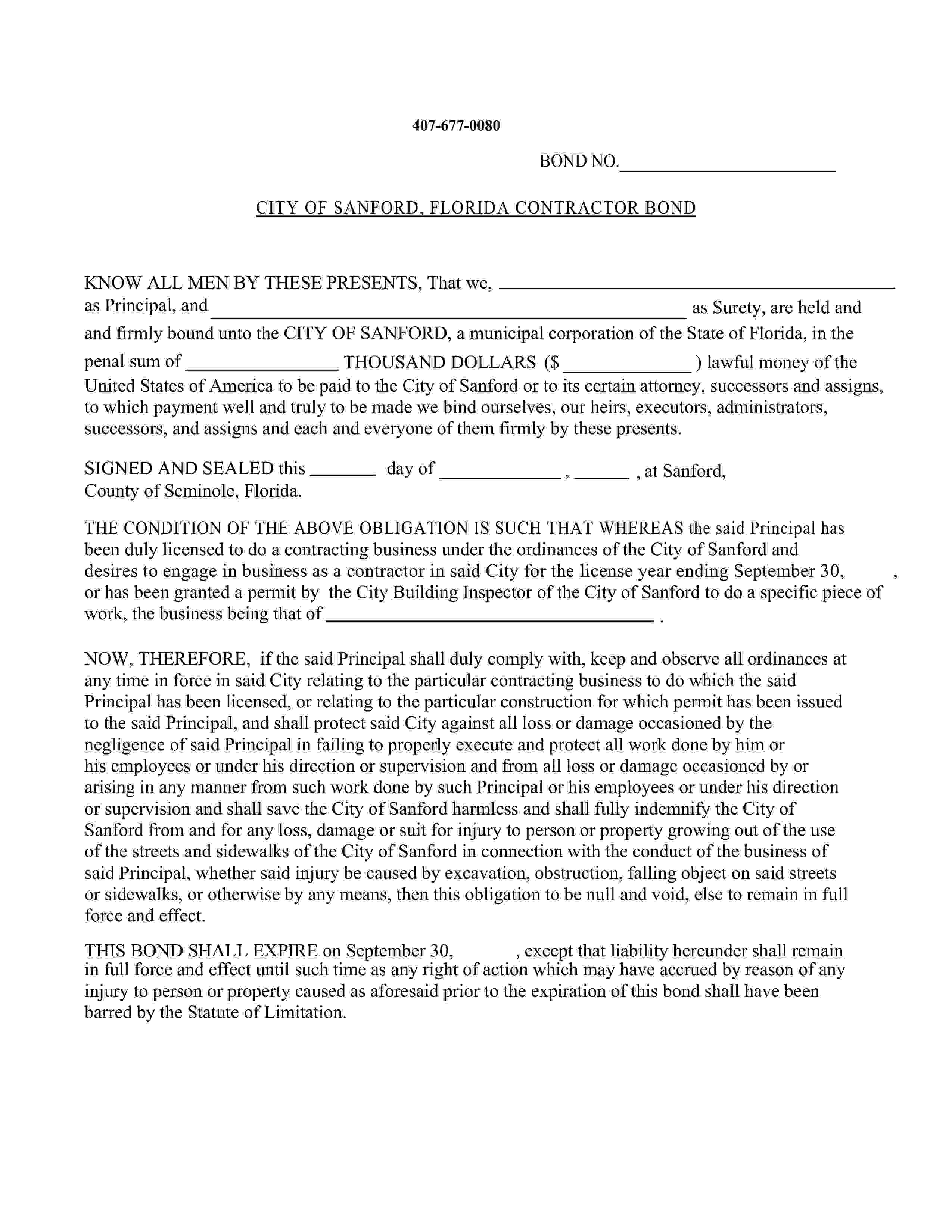 City Of Sanford Sanford - City License/Permit / Sanford - City License/Permit sample image