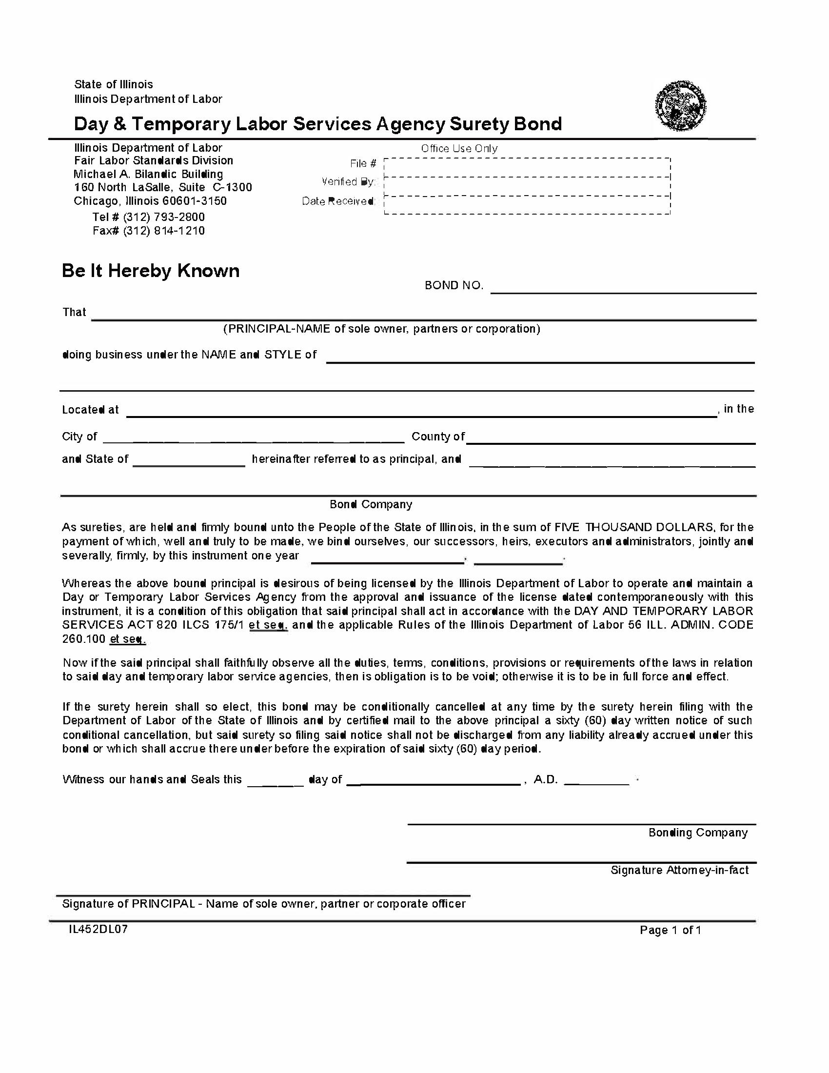 State of Illinois Day & Temporary Labor Services Agency sample image