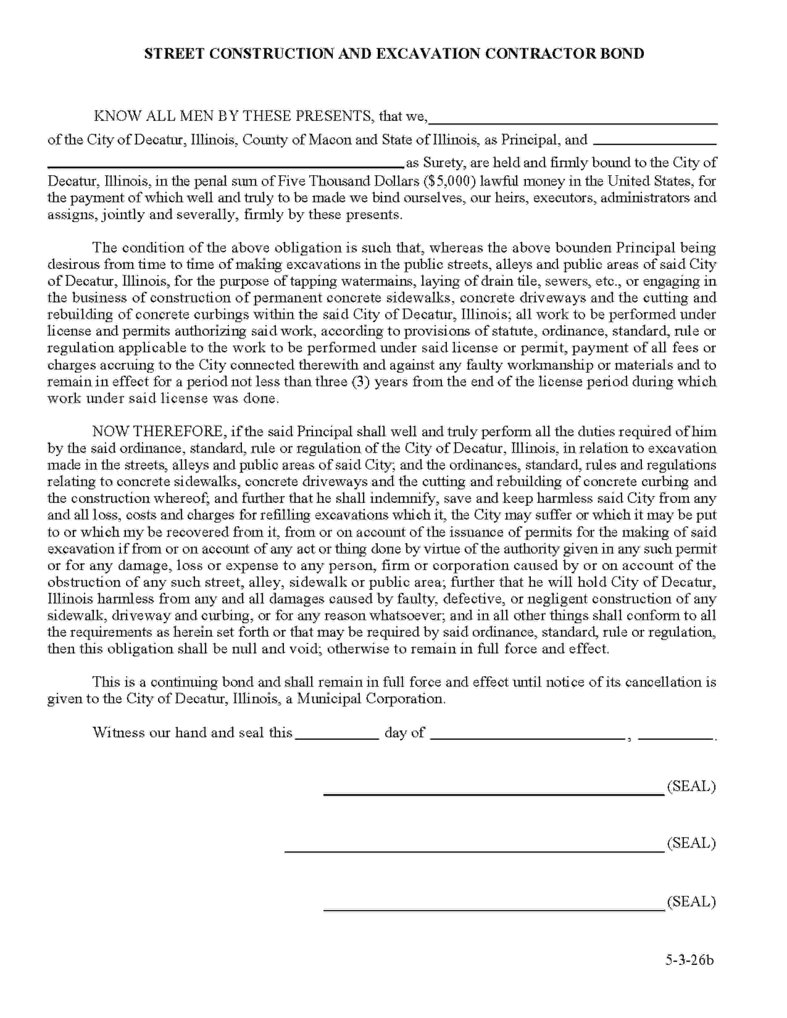 Decatur - City License/Permit sample image