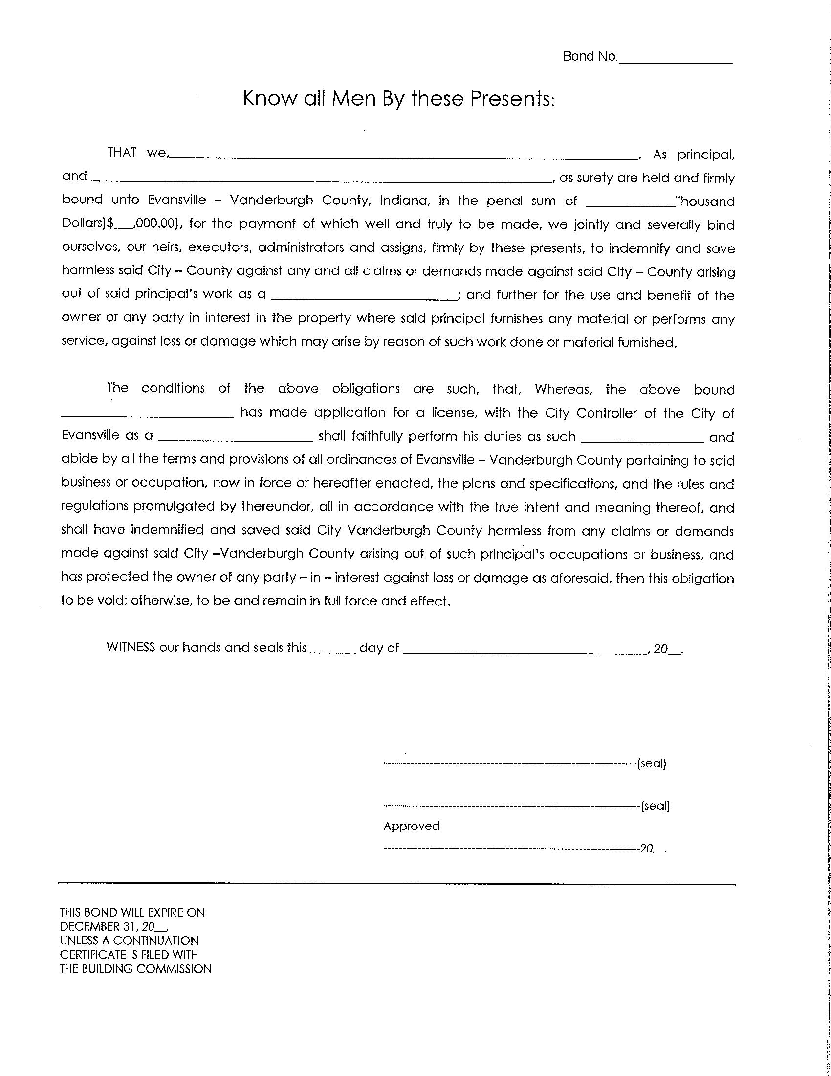 Evansville / Vanderburgh - City / County License/Permit sample image