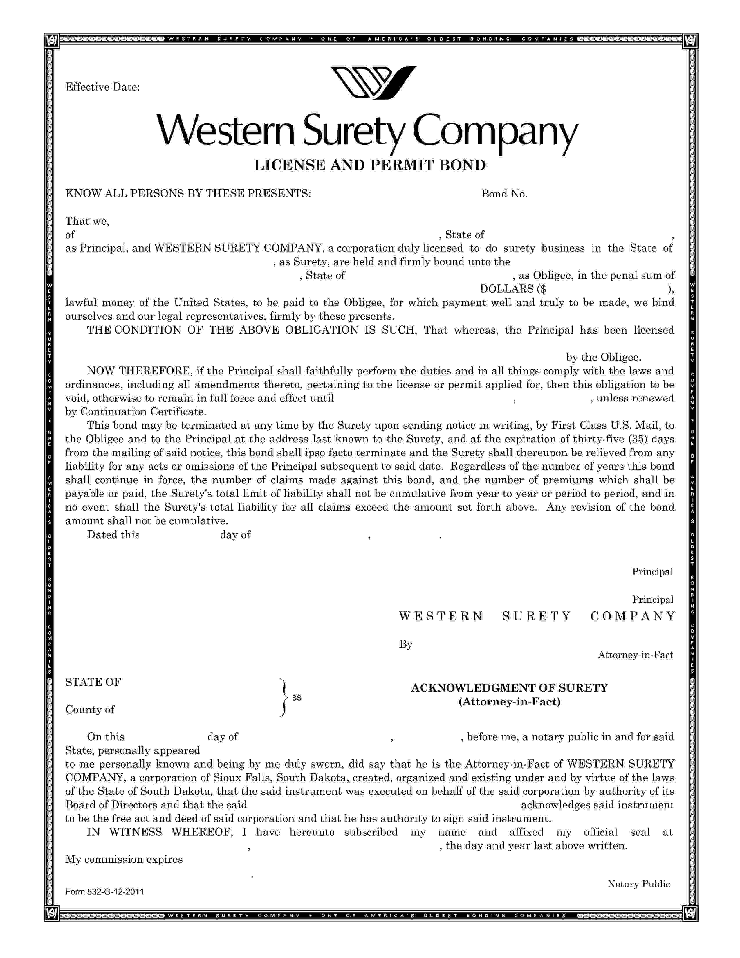 City of Muncie Contractor's License sample image