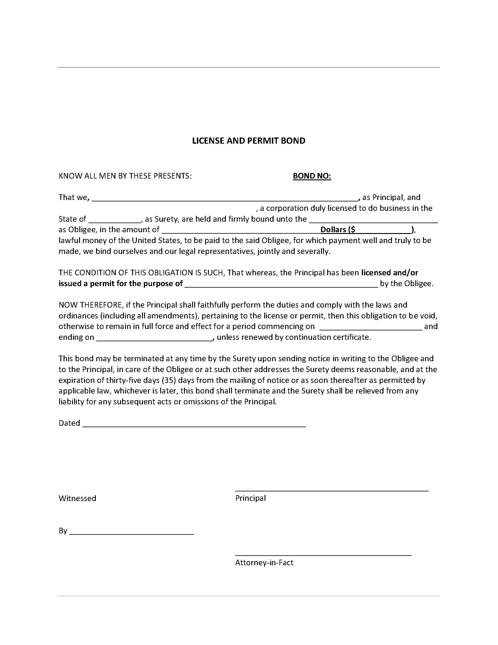 Porter County Contractor's License sample image