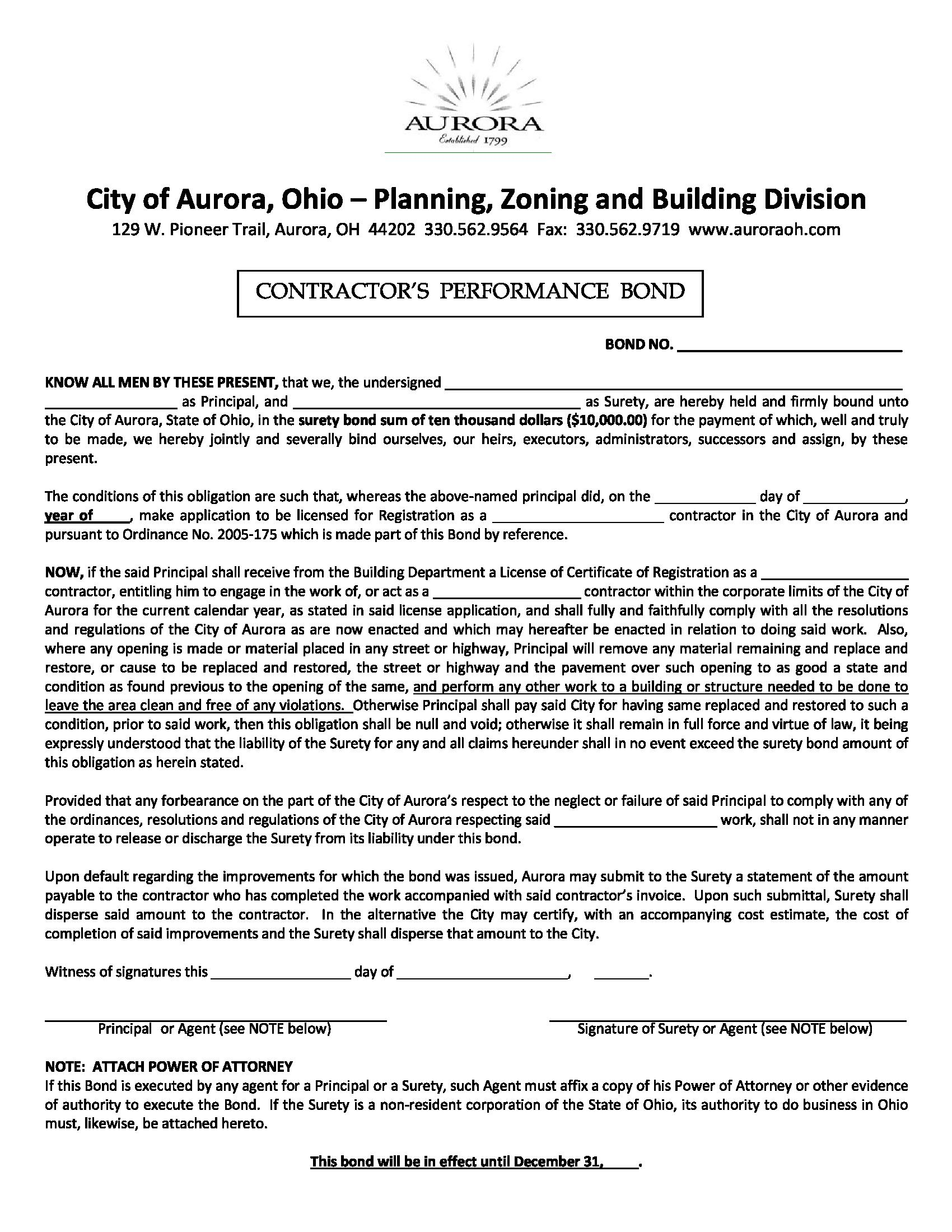 Aurora - City Contractor's Performance sample image
