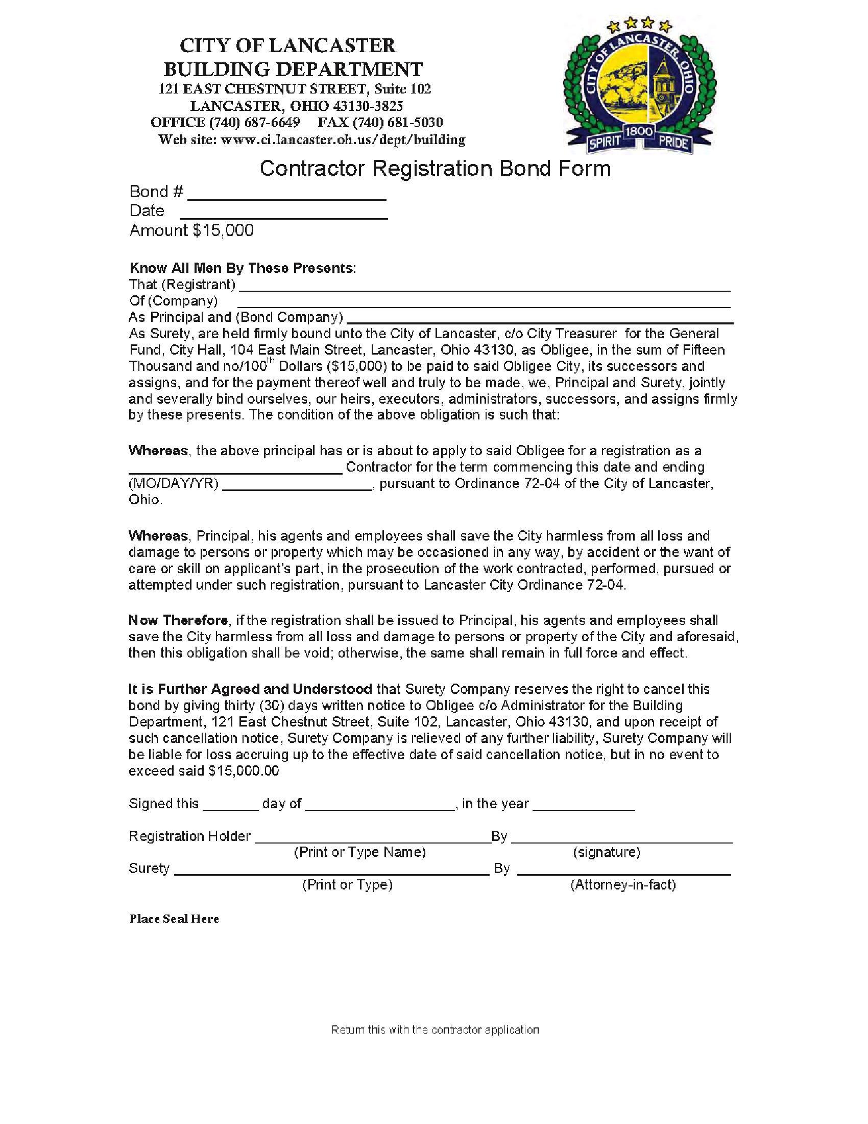 Lancaster - City Contractor Registration sample image