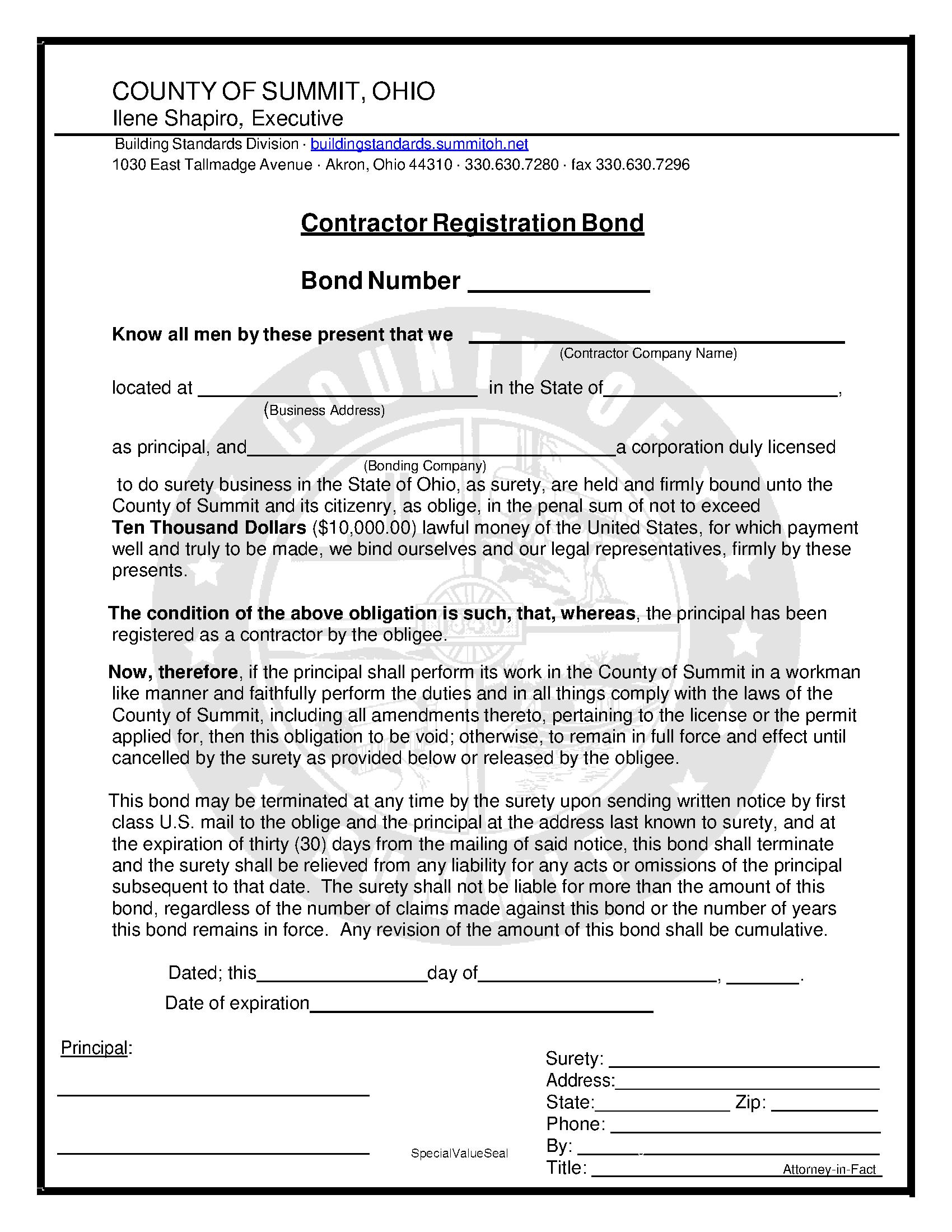 Summit County Contractor Registration sample image