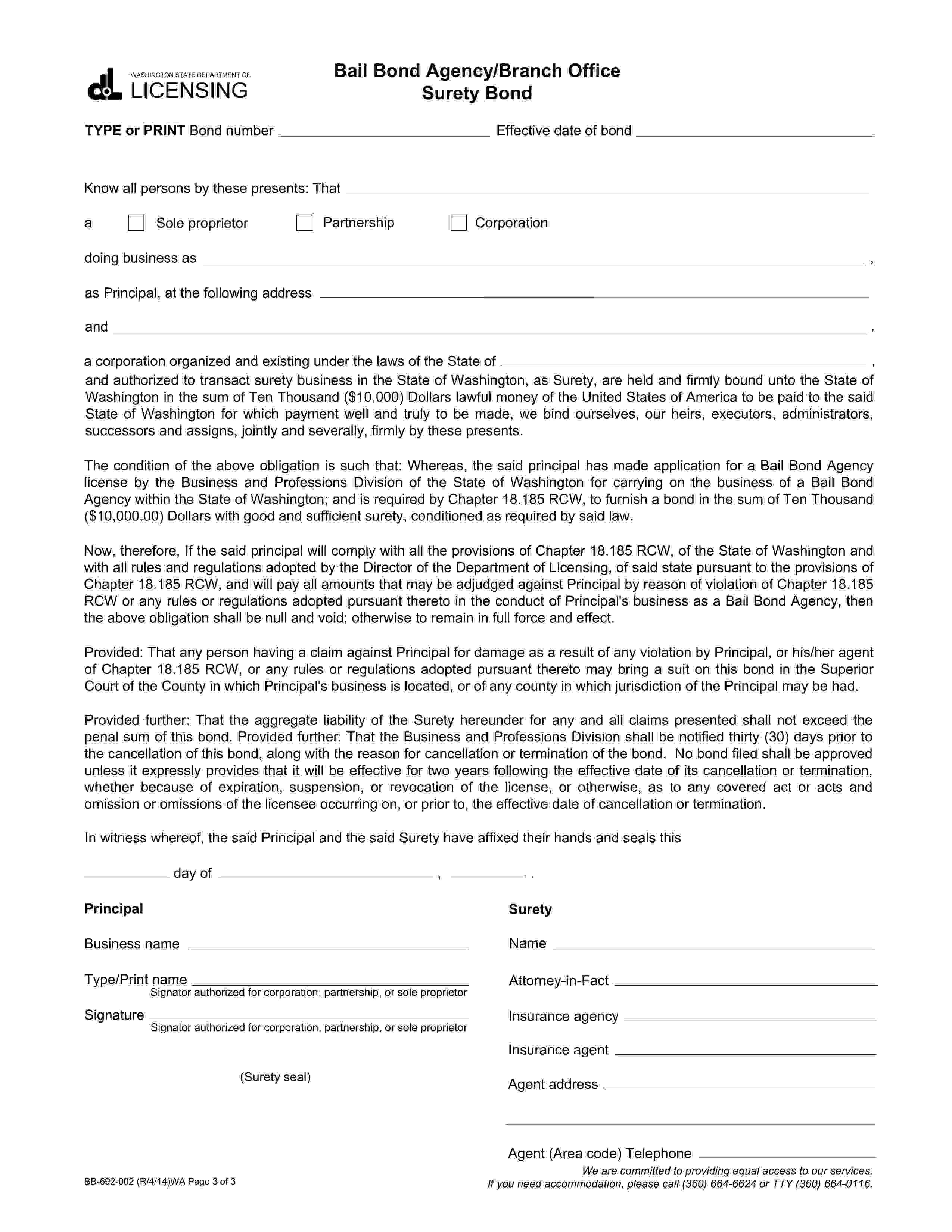 Bail Bond Agency (Corporation) sample image