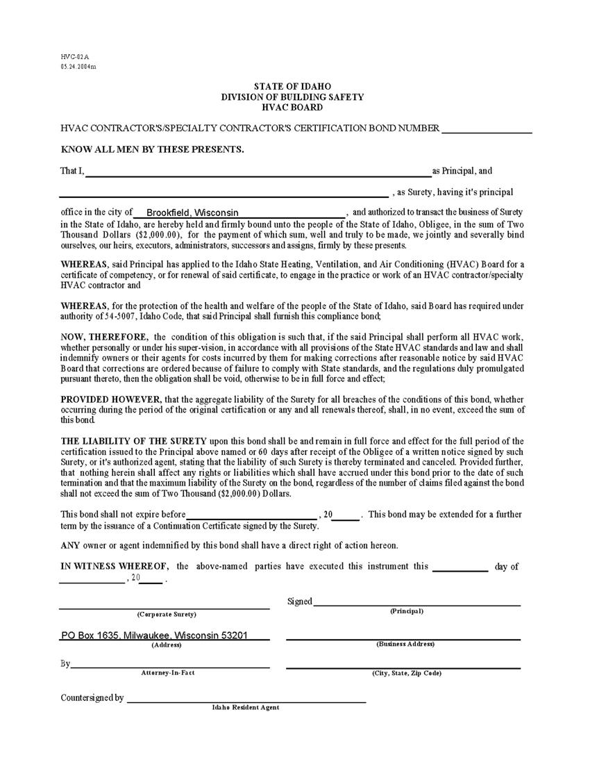 Hvac Installation Contract Template For Your Needs
